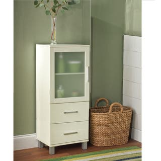 bathroom linen cabinets. Simple Living Frosted Pane 2 Drawer Linen Cabinet Tower Bathroom Cabinets  Storage For Less Overstock com