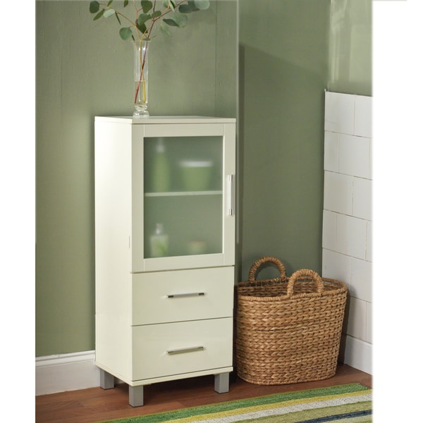 overstock bathroom cabinets simple living frosted pane 2 drawer linen cabinet free 13882