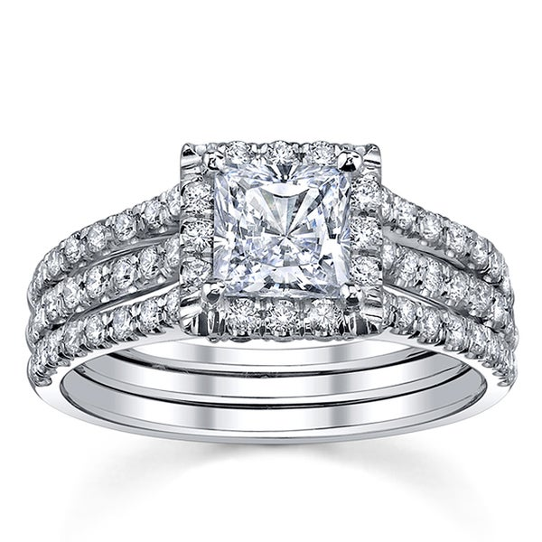 18k White Gold 1 3/4ct TDW Diamond Engagement Ring (I, SI3)