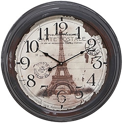 Casa Cortes Republique Francaise Metal Wall Clock - Thumbnail 0