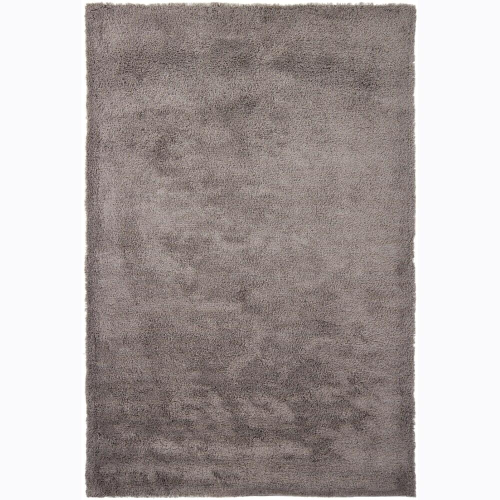 Handwoven Silver-Gray Mandara Shag Area Rug (5' x 7'6)