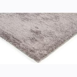 Handwoven Silver-Gray Mandara Shag Area Rug (5' x 7'6) - Thumbnail 1
