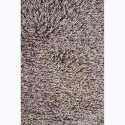 Handwoven Silver-Gray Mandara Shag Area Rug (5' x 7'6) - Thumbnail 2