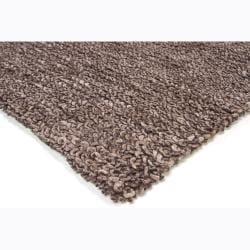 Artist's Loom Hand-woven Wool Shag Rug (7'9x10'6) - Thumbnail 1