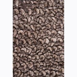 Artist's Loom Hand-woven Wool Shag Rug (7'9x10'6) - Thumbnail 2