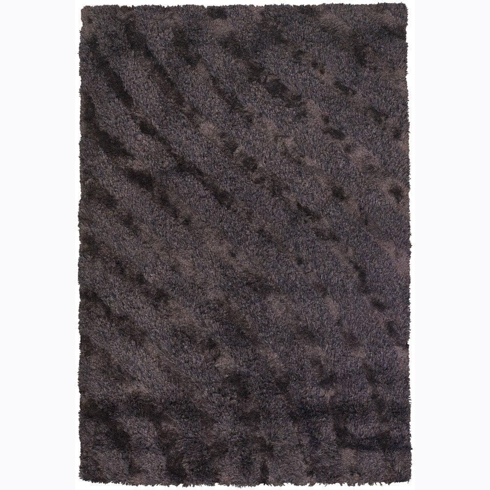 Handwoven 1.5-Inch Tricolor Mandara Shag Rug (9' x 13')