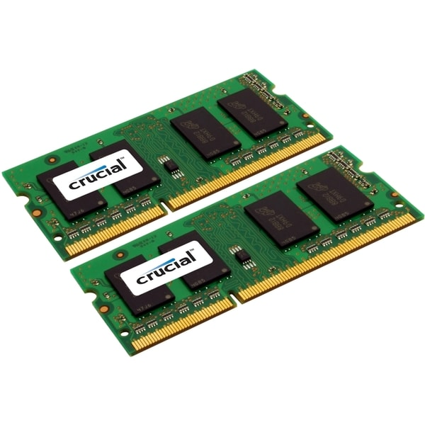 Crucial 16GB Kit (8GBx2), 204-pin SODIMM, DDR3 PC3-10600 Memory Modul