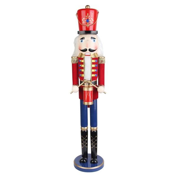 Christmas 36 Inch Red Nutcracker Drummer Soldier