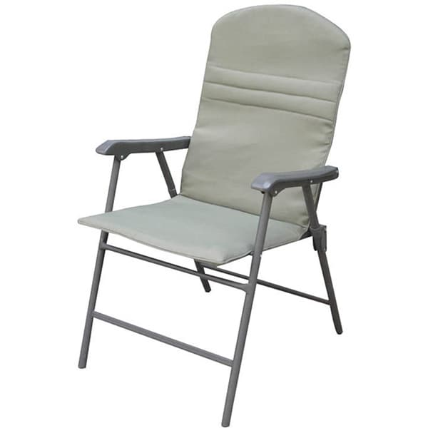 Folding patio chairs - Khaki Padded Outdoor Patio Folding Chairs Set Of 4 Free Shipping