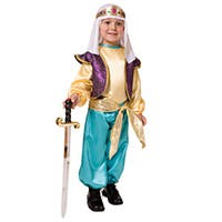 Dress Up America Boy's Arabian Sultan Costume - Multi