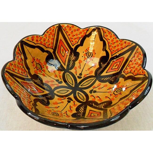 Handmade Cafe Nada Ceramic Marigold Bowl (Morocco)