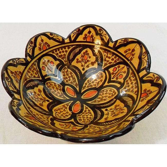 Handmade Cafe Sonia Ceramic Bowl (Morocco)