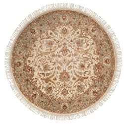 Hand-knotted Gene Wool Rug (8' Round)