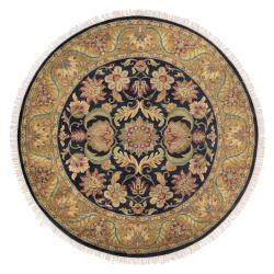 Hand-knotted Taj Mahal Wool Rug (8' Round)
