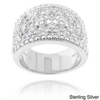 DB Designs Diamond Accent Lace Filigree Design Ring