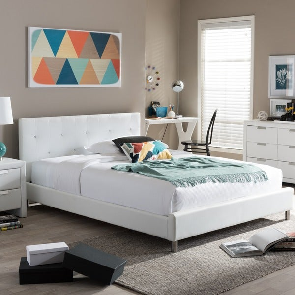Silver Orchid Caillol Tufted Upholstered Queen Bed