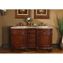Silkroad Exclusive Travertine Stone Top 60-inch Double Sink Vanity Cabinet|https://ak1.ostkcdn.com/images/products/6358779/Silkroad-Exclusive-Travertine-Stone-Top-60-inch-Double-Sink-Vanity-Cabinet-P13977722.jpg?impolicy=medium