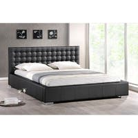 Clay Alder Home Mildred Black Upholestry Queen Platform Bed