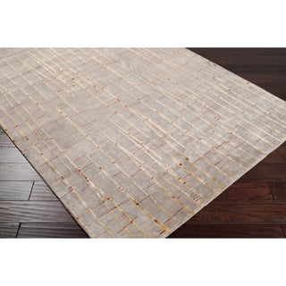 Hand-knotted Jarrow Abstract Design Wool Rug (2 '6 x 10')