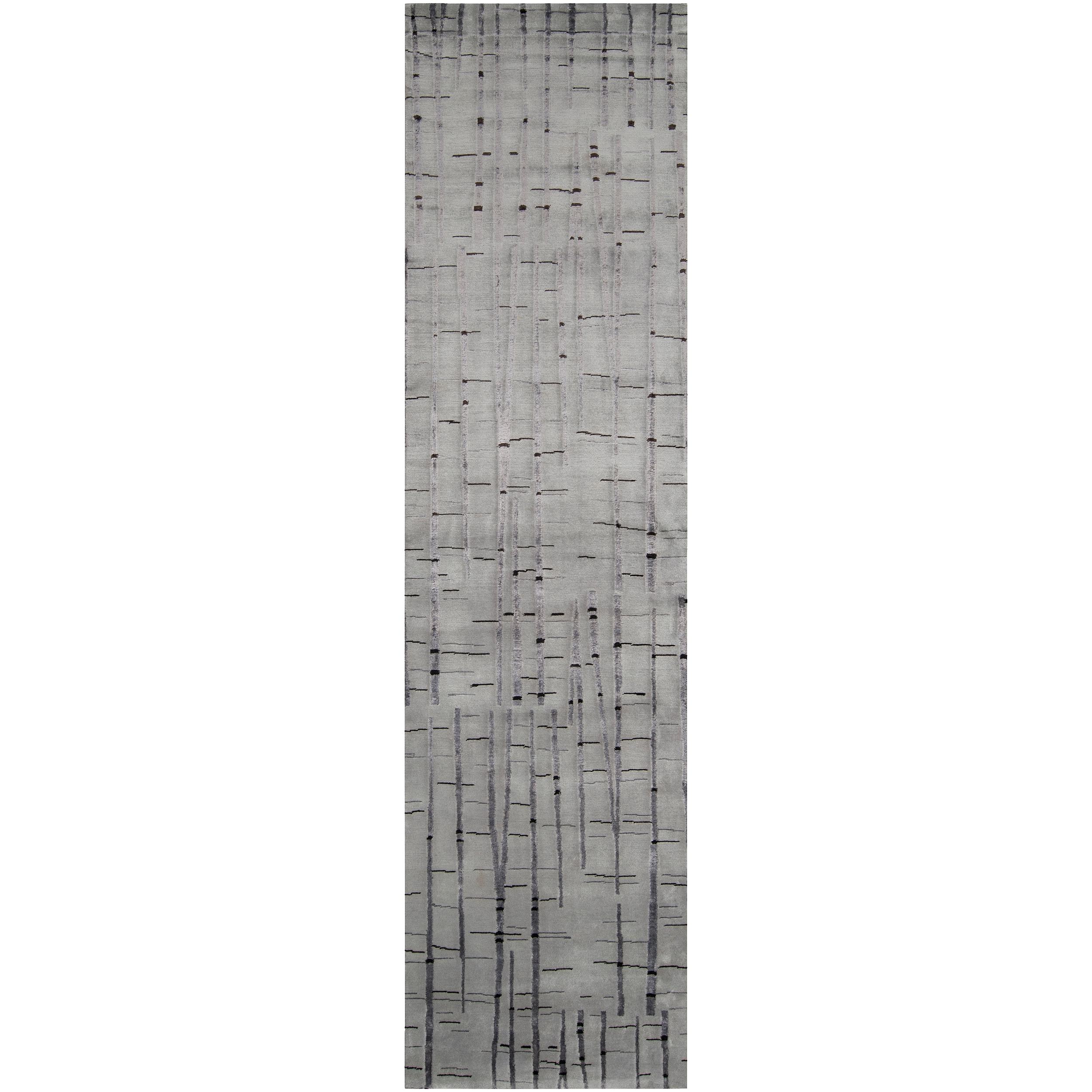 Hand-knotted Ilford Abstract Design Wool Rug (2 '6 x 10')