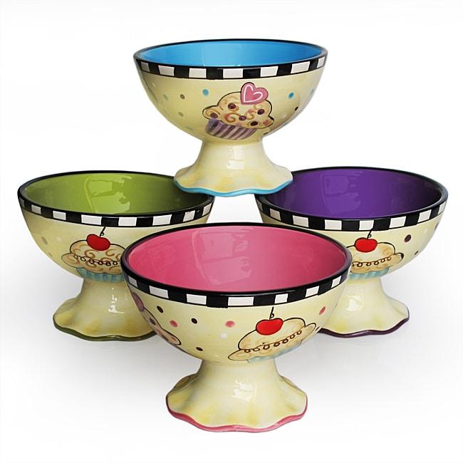 American Atelier Confections Pedestal Bowls, Set 4