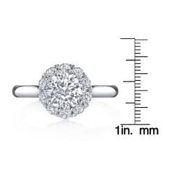 18k White Gold 3/4ct TDW Round Halo Diamond Ring - Thumbnail 2