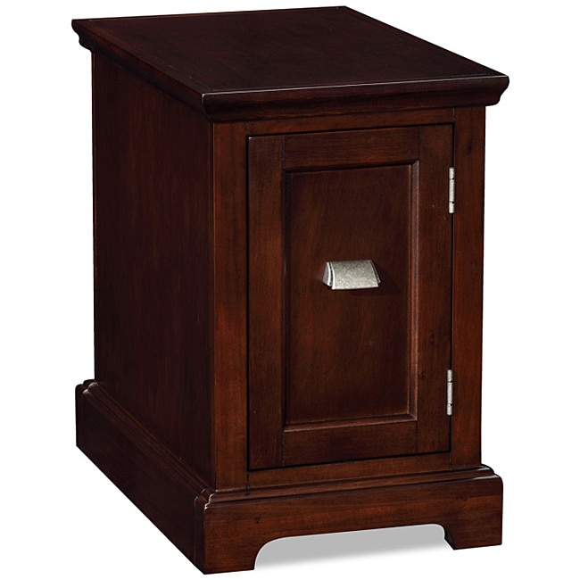 Chocolate Cherry Printer Stand/ Cabinet End Table - 13977926