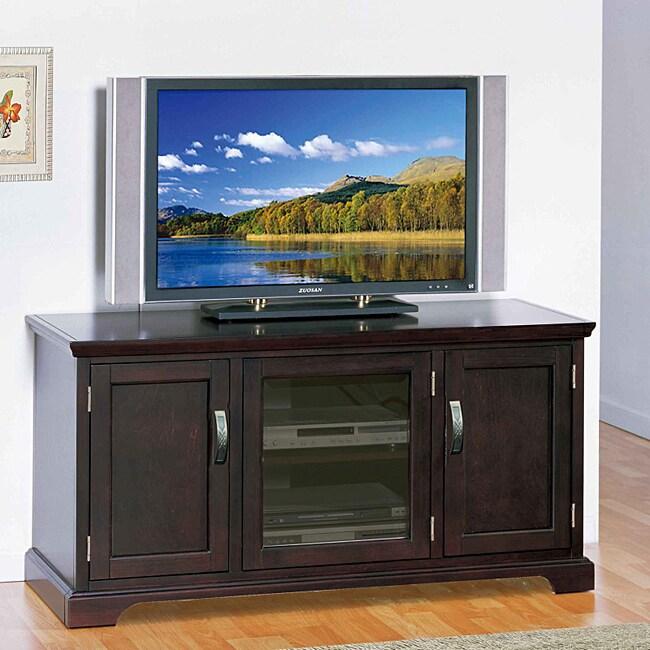 KD Furnishings Chocolate Bronze 50-inch TV Stand & Media ...