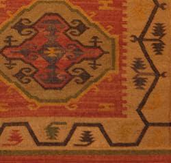 Indo Tribal Kilim Flat Weave Rug (4' x 6') - Thumbnail 2
