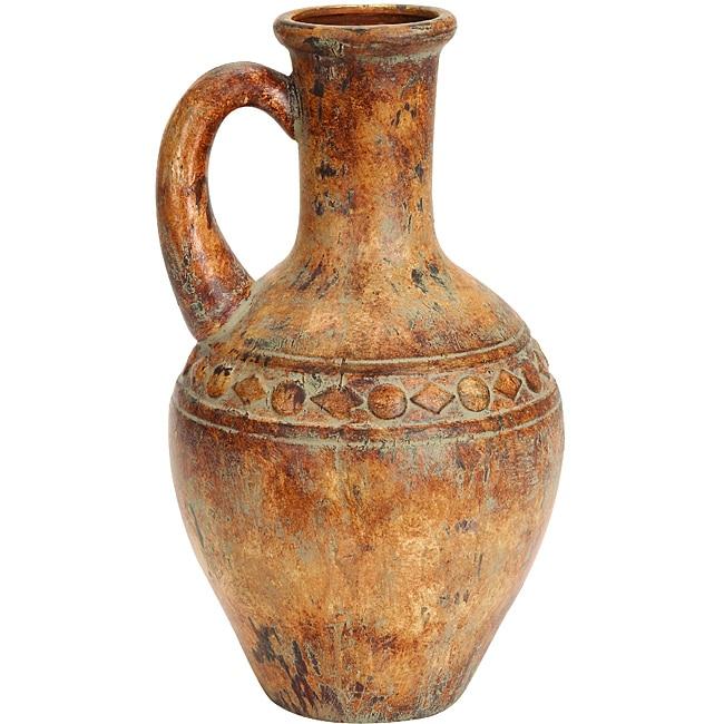 Shop Porto Fino Distress Terra Cotta Urn Ceramic Vase Free