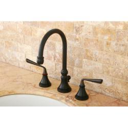 Oil Rubbed Bronze Widespread Bathroom Faucet - Thumbnail 0