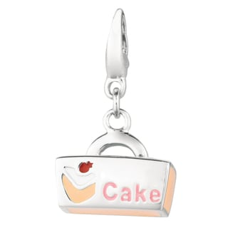 Sterling Silver Cake Back Necklace