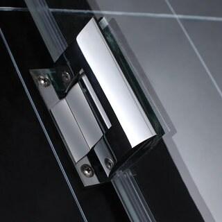 DreamLine Unidoor 53-inch Min to 54-inch Max Frameless Hinged Shower Door