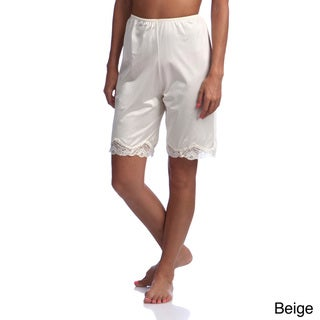Illusion's Women's Antistatic Lace Details Trouser Slip