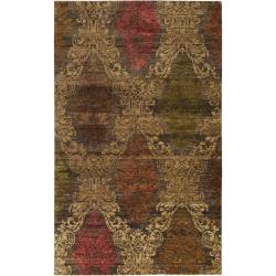 Hand-knotted Tarbes New Zealand Wool Rug (5' x 8')
