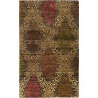 Hand-knotted Tarbes New Zealand Wool Area Rug - 5' x 8'