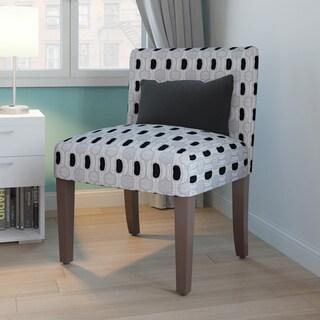 Porch & Den Los Feliz Clarissa Geometric Pattern Accent Chair with Pillow