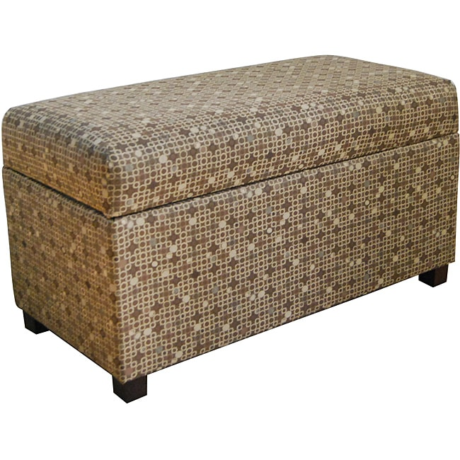 Class Mushroom Tonal Brown Storage Bench