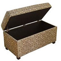 Class Mushroom Tonal Brown Storage Bench - Thumbnail 1