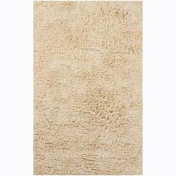 Artist's Loom Hand-woven Shag Rug (5' x 7'6) - Thumbnail 0