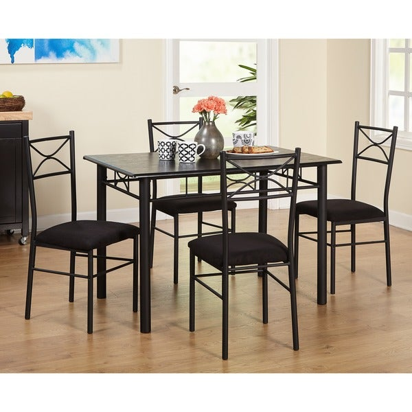 metal dining room sets | Simple Living Valencia 5-piece Metal Dining Set - Free ...