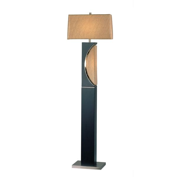 Modern Wooden Moon Floor Lamp