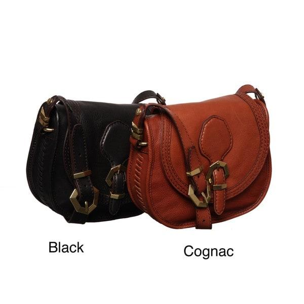 fed3d2ce0497 Shop Oryany Angelina Leather Flapover Crossbody Bag - Free Shipping ...