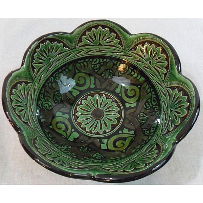 Petite Engraved Ceramic Bowl (Morocco)