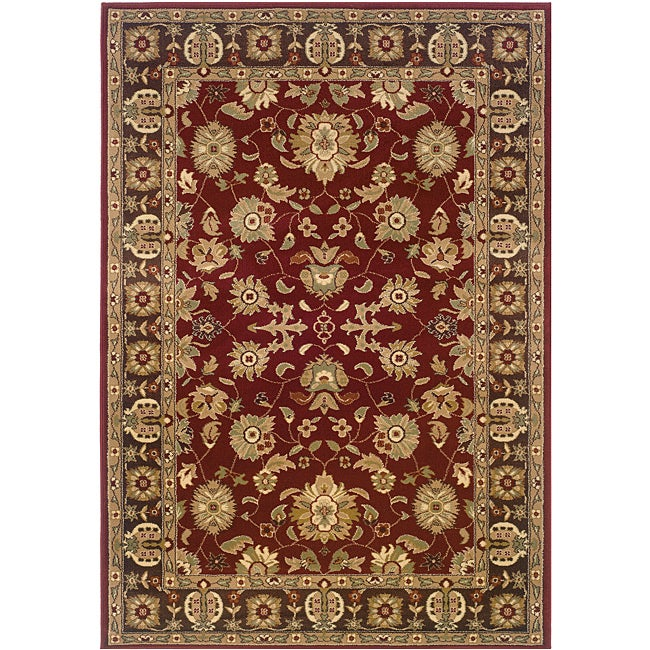 Red/Brown Oriental Rug (7'9 x 9'9) - Thumbnail 0