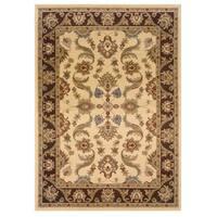 LR Home Adana Cream / Brown Oriental Rug ( 5'1 x 7'5 ) - 5'3 x 7'5
