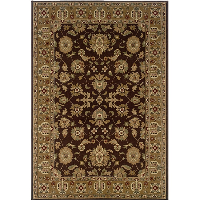Brown/Gold Oriental Rug (5'3 x 7'5)
