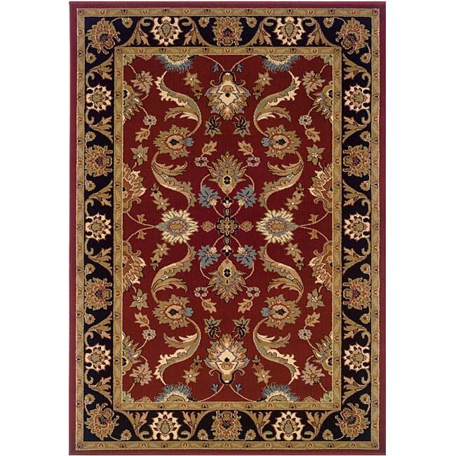 Lr Home Adana Red Black Oriental Rug 7 X27 9 X