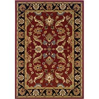 "LR Home Adana Red / Black Oriental Rug ( 7'9"" x 9'10"" ) - 7'9 x 9'10/7'9 x 9'9"