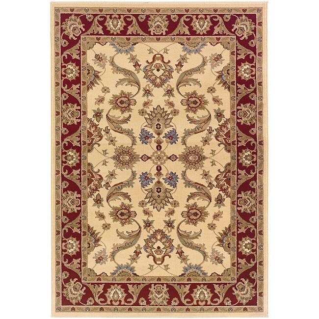 LNR Home Adana Cream/ Brown Oriental Rug (7'9 x 9'9)